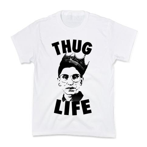 Ruth Bader Ginsberg Thug Life Kids T-Shirt