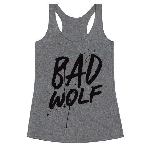 Doctor Who Bad Wolf Racerback Tank Top