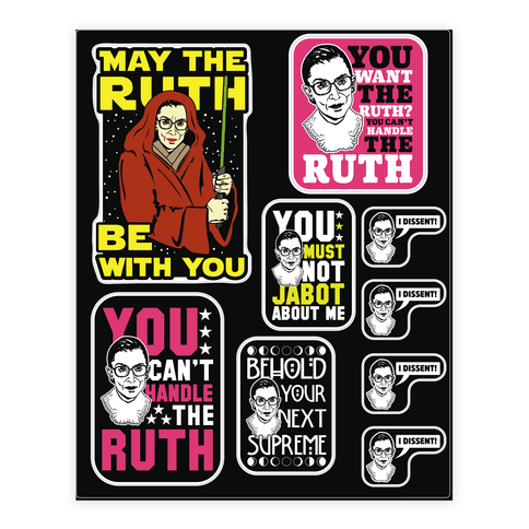 You Can't Handle the Ruth  Sticker/Decal Sheet