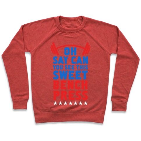 Oh Say Can You See This Sweet Bench Press Pullover