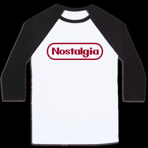 Nostalgia (Old Nintendo Logo) Baseball Tee