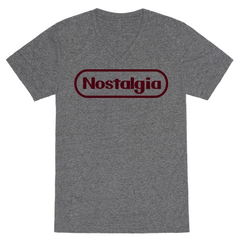 Nostalgia (Old Nintendo Logo) V-Neck Tee Shirt