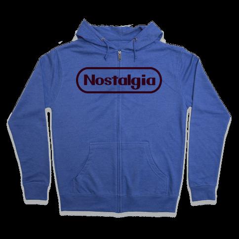 Nostalgia (Old Nintendo Logo) Zip Hoodie