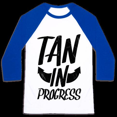 Tan In Progress Baseball Tee