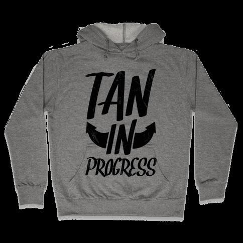 Tan In Progress Hooded Sweatshirt