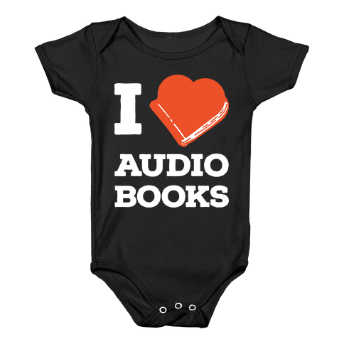 I Love Audio Books Baby Onesy