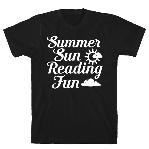 Summer Sun Reading Fun Mens T-Shirt
