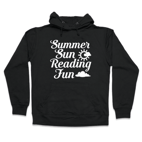 Summer Sun Reading Fun Hooded Sweatshirt