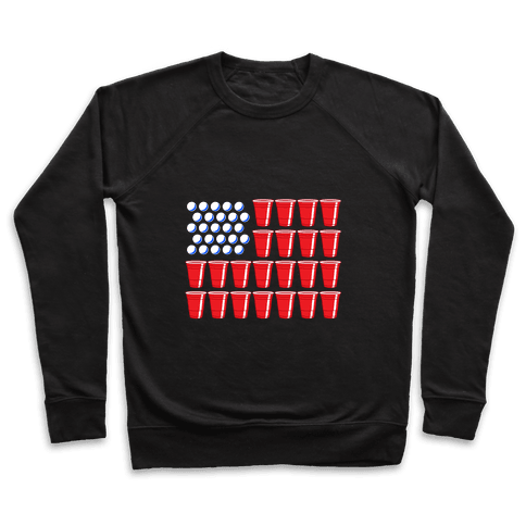 Beer Pong Flag Pullover