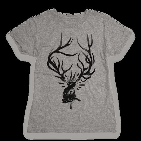 A Jackalope's Lullaby Womens T-Shirt