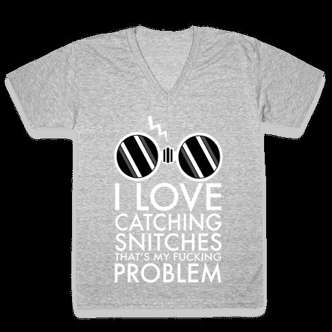 Snitch Catching V-Neck Tee Shirt