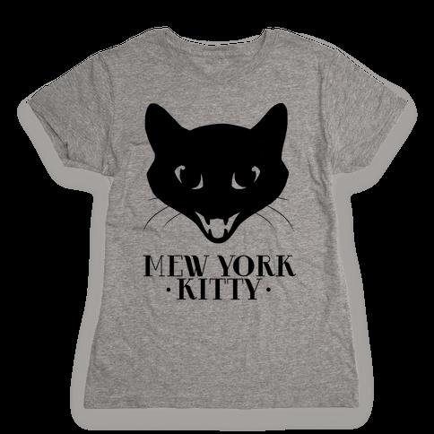 Mew York Kitty Womens T-Shirt