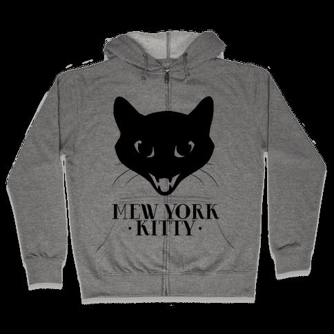 Mew York Kitty Zip Hoodie