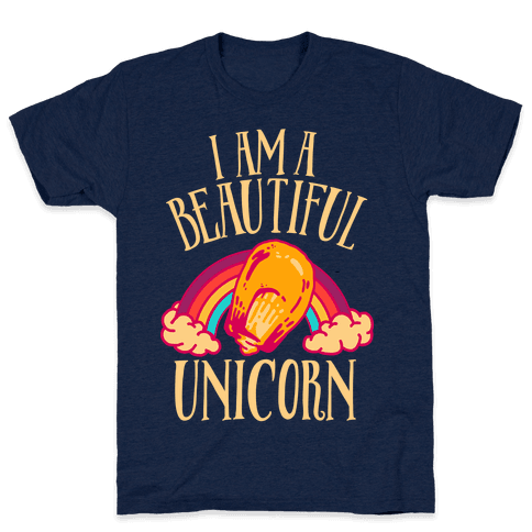 I Am a Beautiful Unicorn Kernel Mens T-Shirt