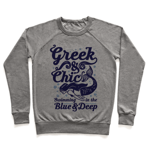 Greek & Chic Swimming in the Blue & Deep Pullover