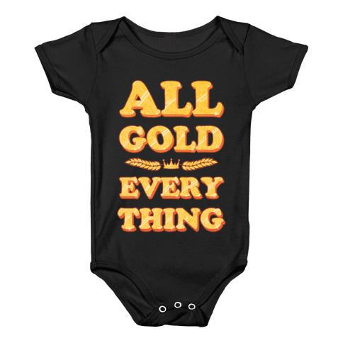 All Gold Everything (vintage) Baby Onesy