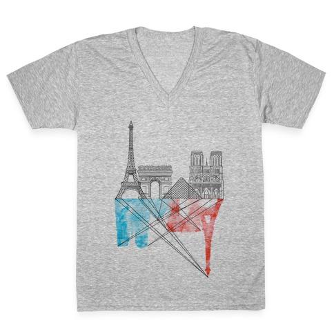 Paris V-Neck Tee Shirt