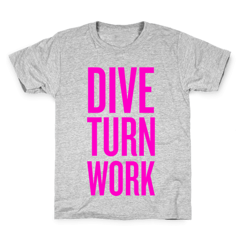 Dive Turn Work Kids T-Shirt