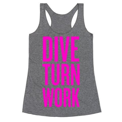 Dive Turn Work Racerback Tank Top