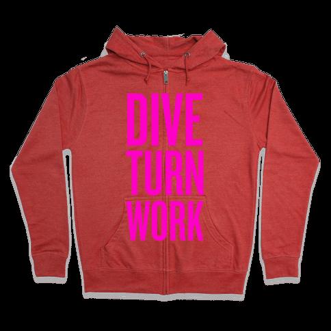 Dive Turn Work Zip Hoodie