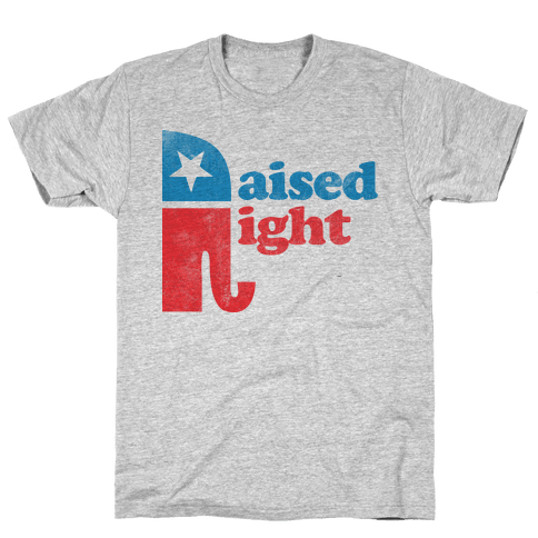 RAISED RIGHT (VINTAGE) Mens T-Shirt