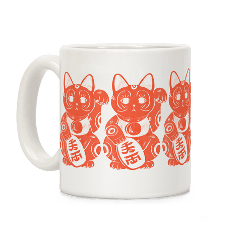 Japanese Lucky Cat Coffee Mug