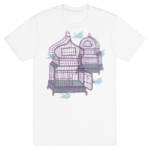 Open Birdcage Mens T-Shirt