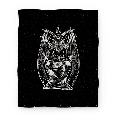 Pet Cats. Hail Satan. Blanket
