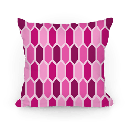 Pink Crystals Pillow