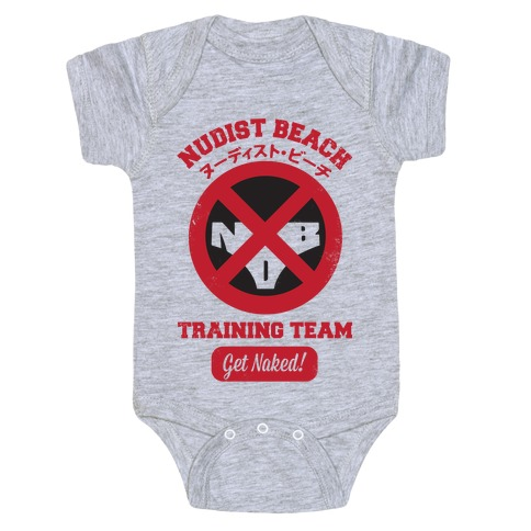 Nudist Beach Training Team Baby Onesy