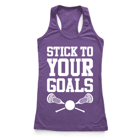 Stick To Your Goals Racerback Tank Top