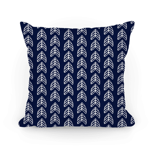 Trendy Navy Chevron Pattern Pillow