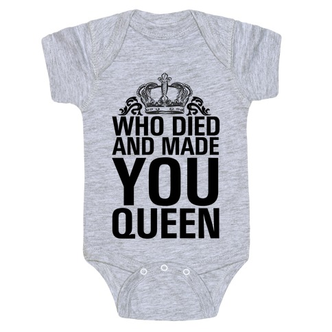 Who Died Baby Onesy