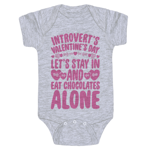 Introverted Valentine Baby Onesy