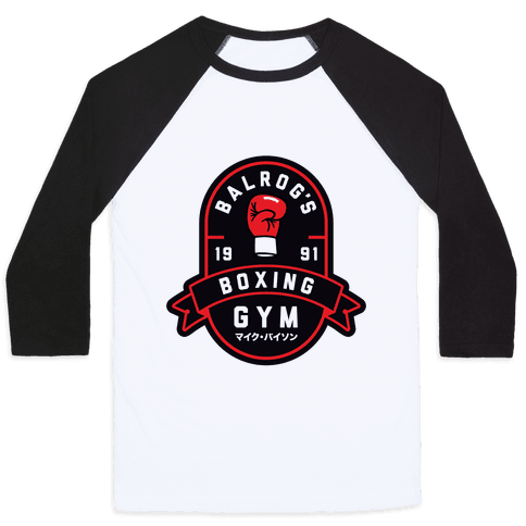 Balrog's Boxing Gym Baseball Tee
