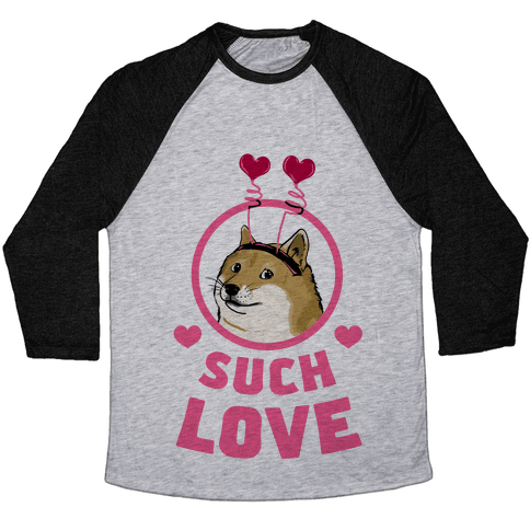 Doge: Such Love Baseball Tee