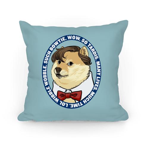 The Doctor Doge Pillow