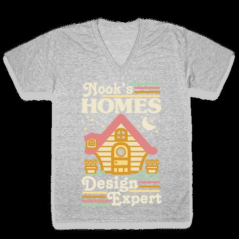 Nook's Homes Design Expert V-Neck Tee Shirt