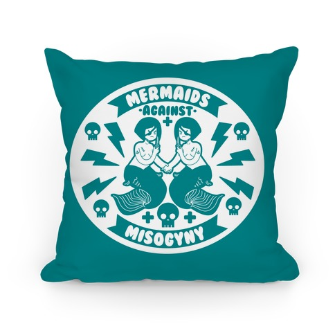 Mermaids Against Misogyny Pillow
