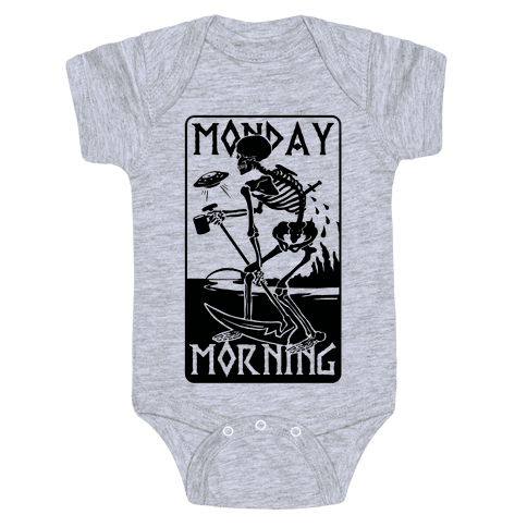 Monday Morning Death Baby Onesy