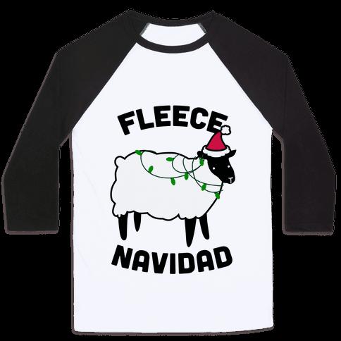 Fleece Navidad Baseball Tee