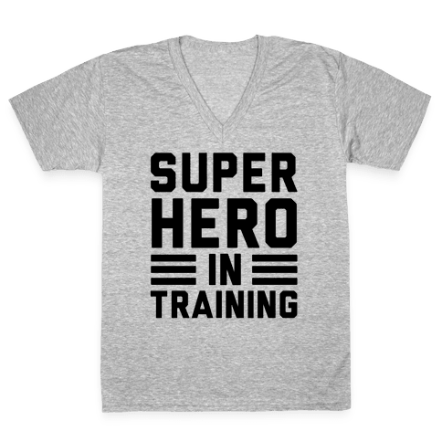 SuperHero In Training V-Neck Tee Shirt