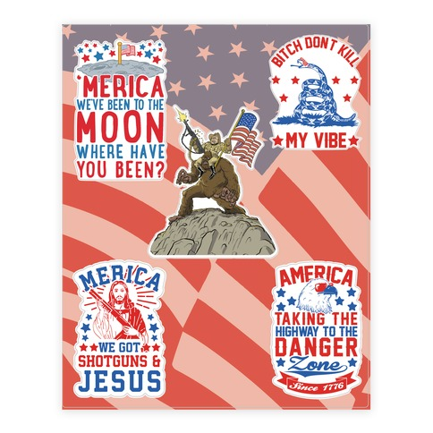 'Merica  Sticker/Decal Sheet