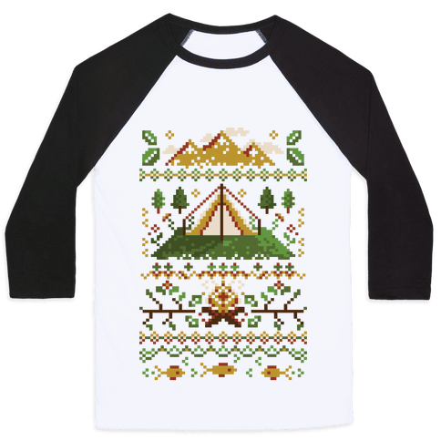 Ugly Camping Sweater Baseball Tee