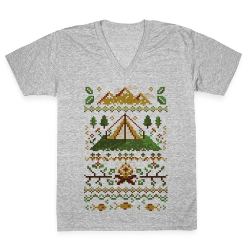 Ugly Camping Sweater V-Neck Tee Shirt