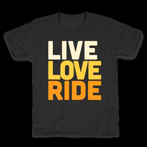 Live, Love, Ride Kids T-Shirt