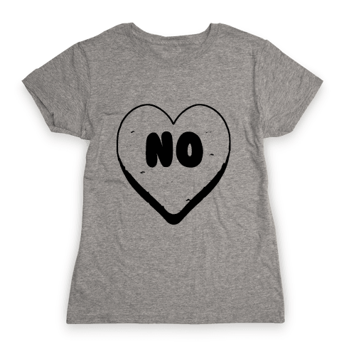 Valentine's Day Heart No Womens T-Shirt