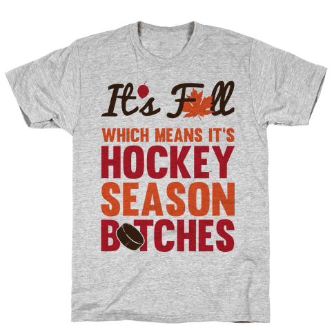Hockey Season (Censored) Mens T-Shirt
