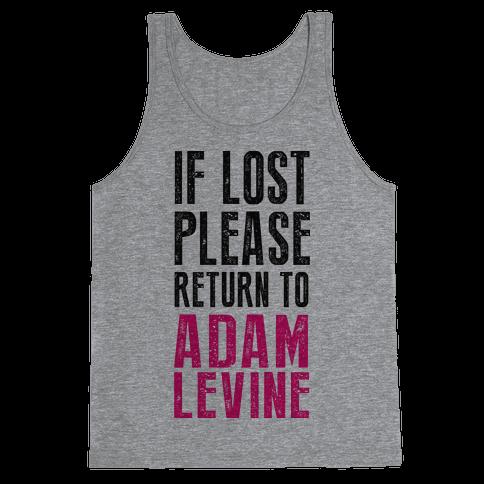 If Lost Return To Adam Levine Tank Top