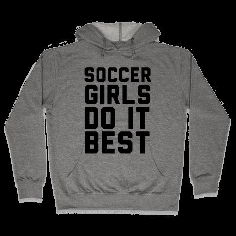 Soccer Girls Hooded Sweatshirt